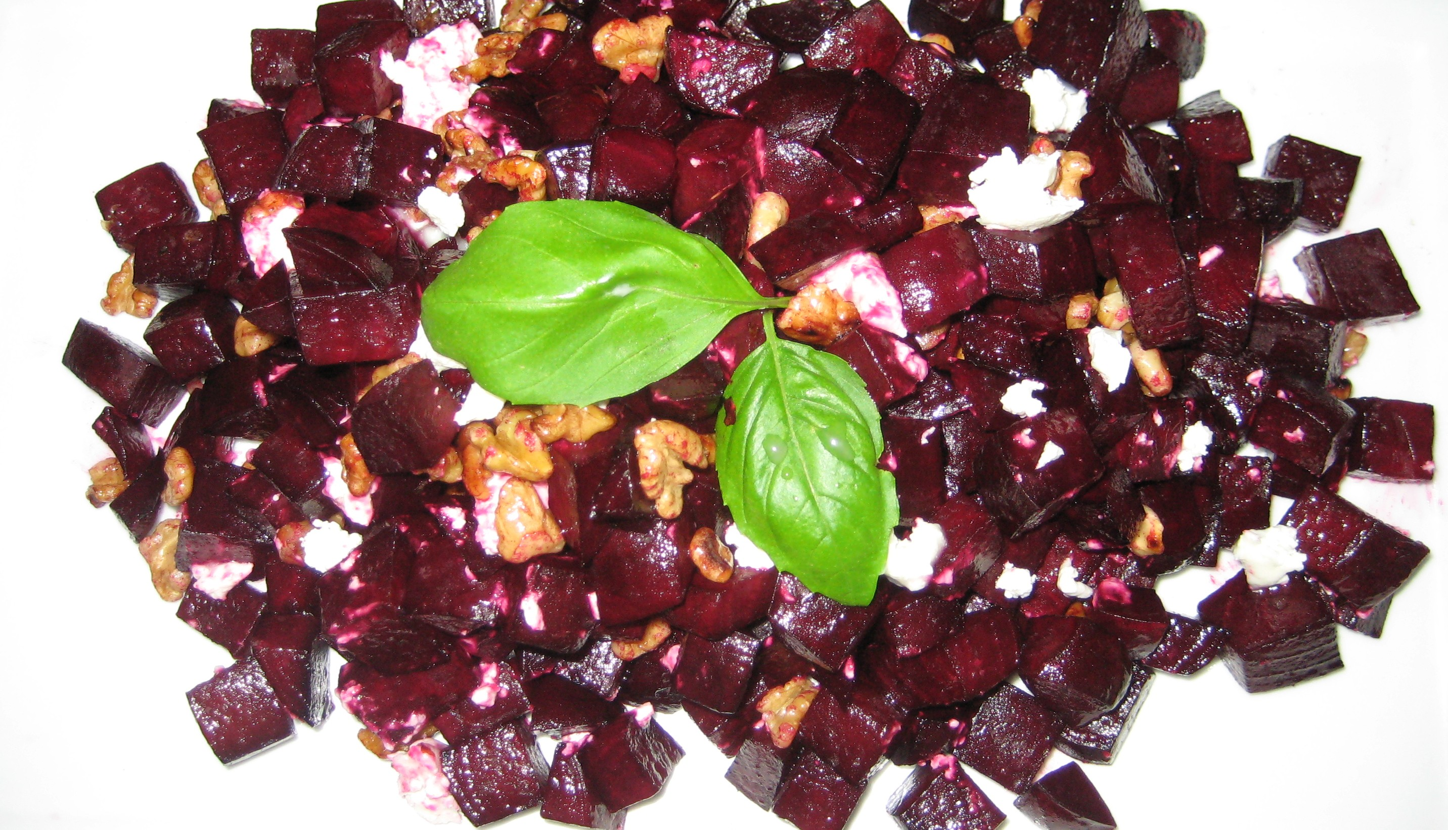 Maple Roasted Beets with Goat Cheese and Walnuts