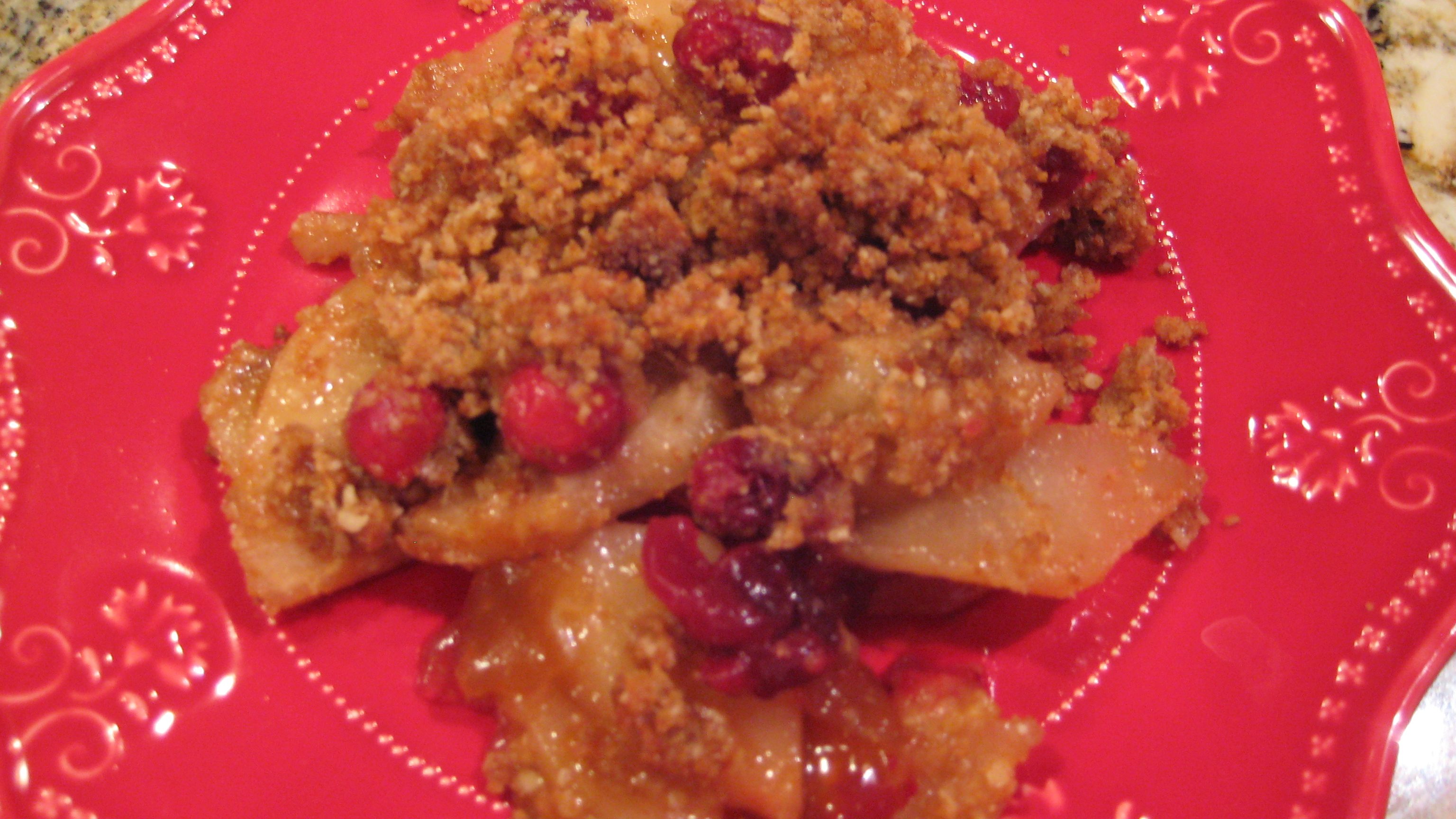 Pear Cranberry and Gingersnap Crumble (refined sugar and dairy free ...