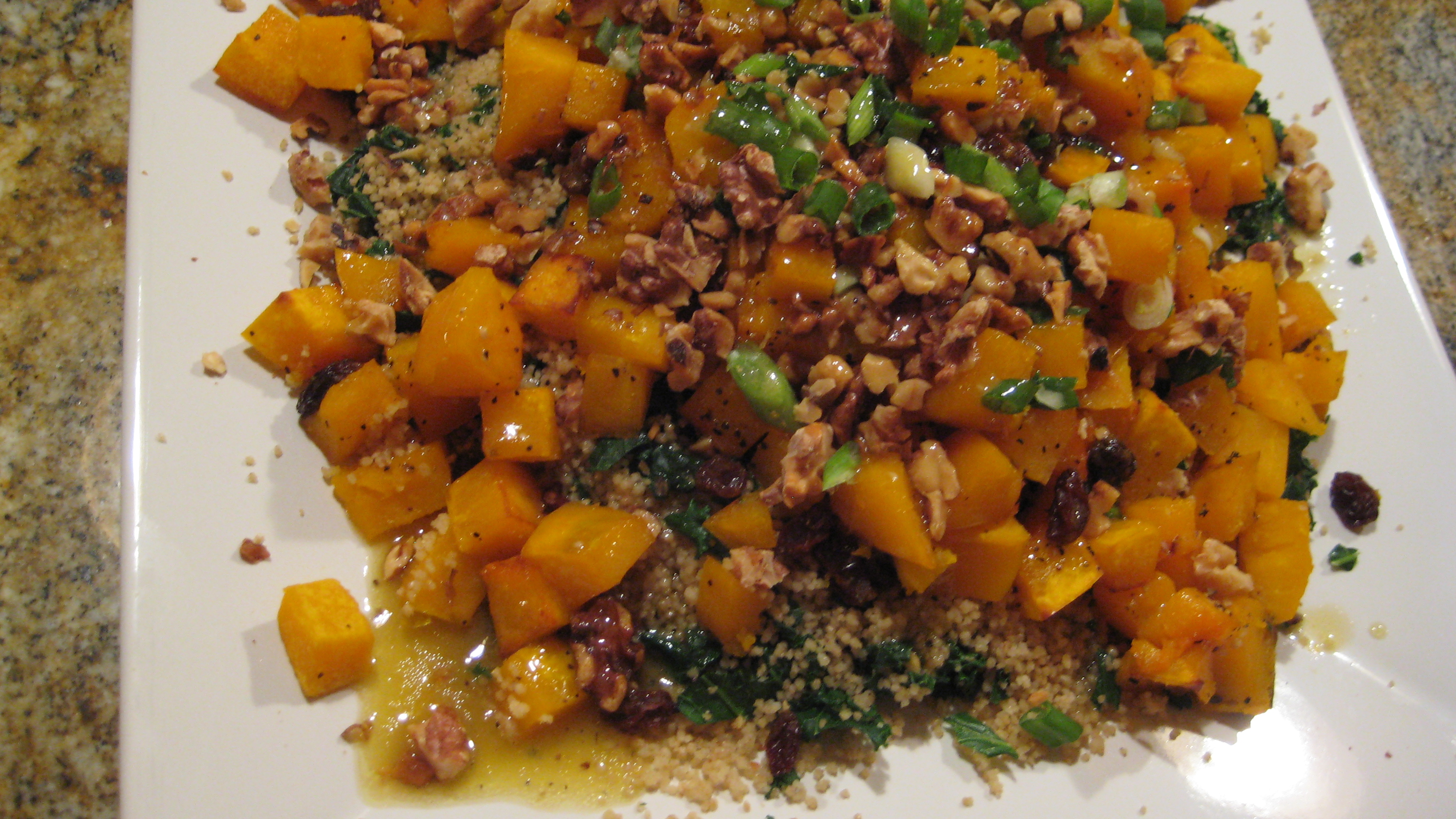 Cous Cous and Roasted Squash Salad