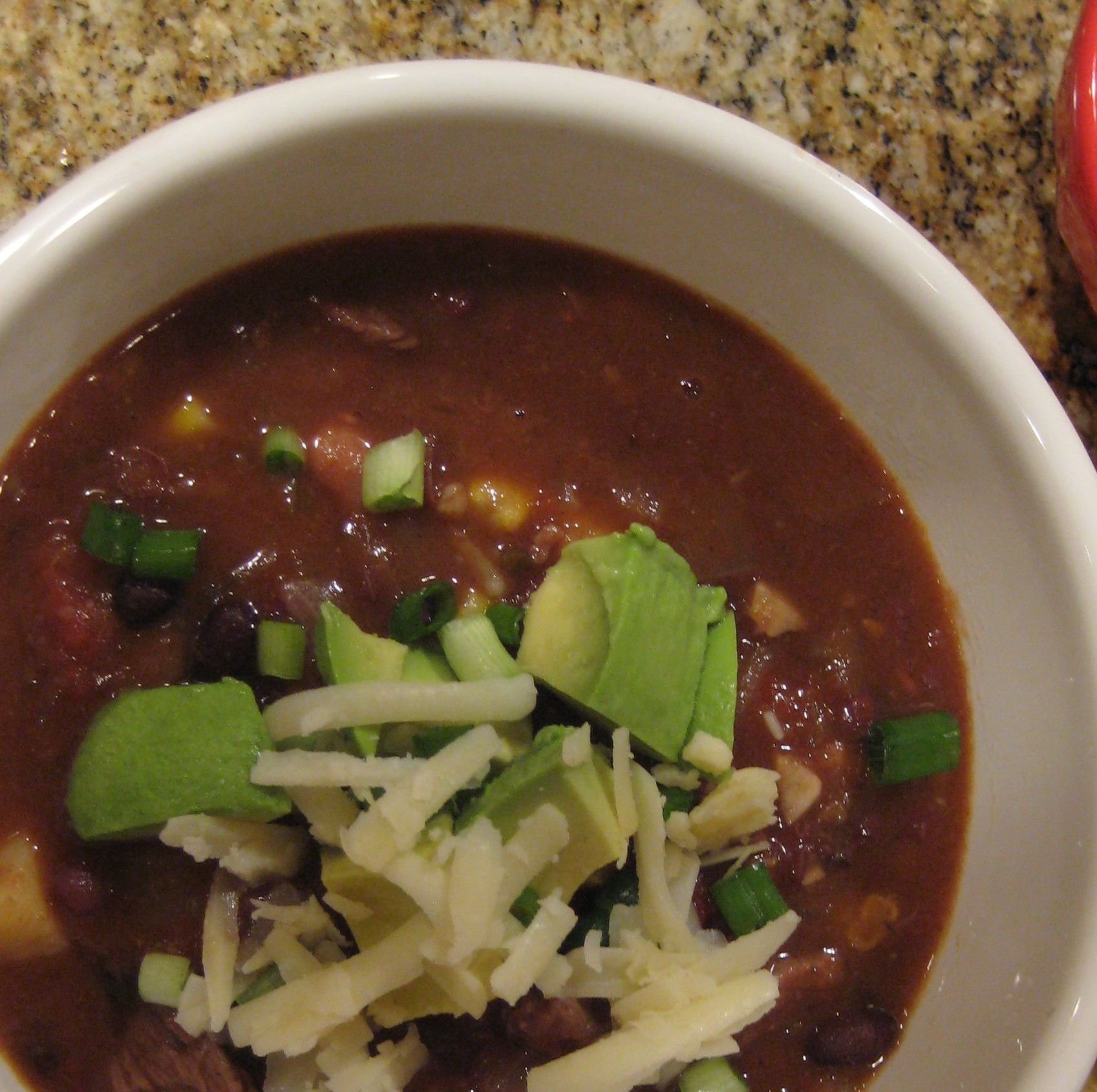 Three Bean Chili with Sweet Potatoes and Chipotle