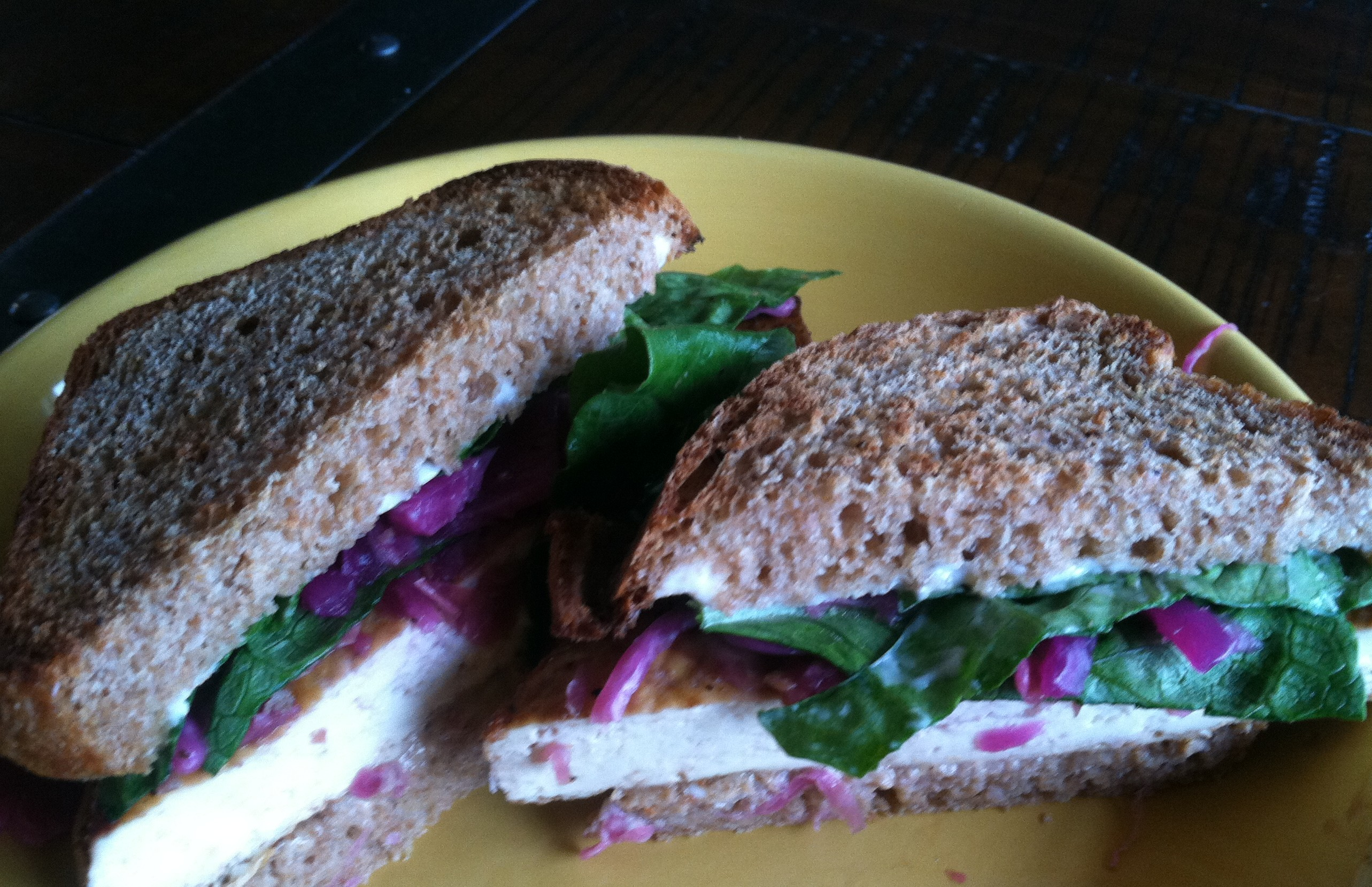 "Grilled Tofu ""Reuben"" Sandwich - At My Kitchen Table"