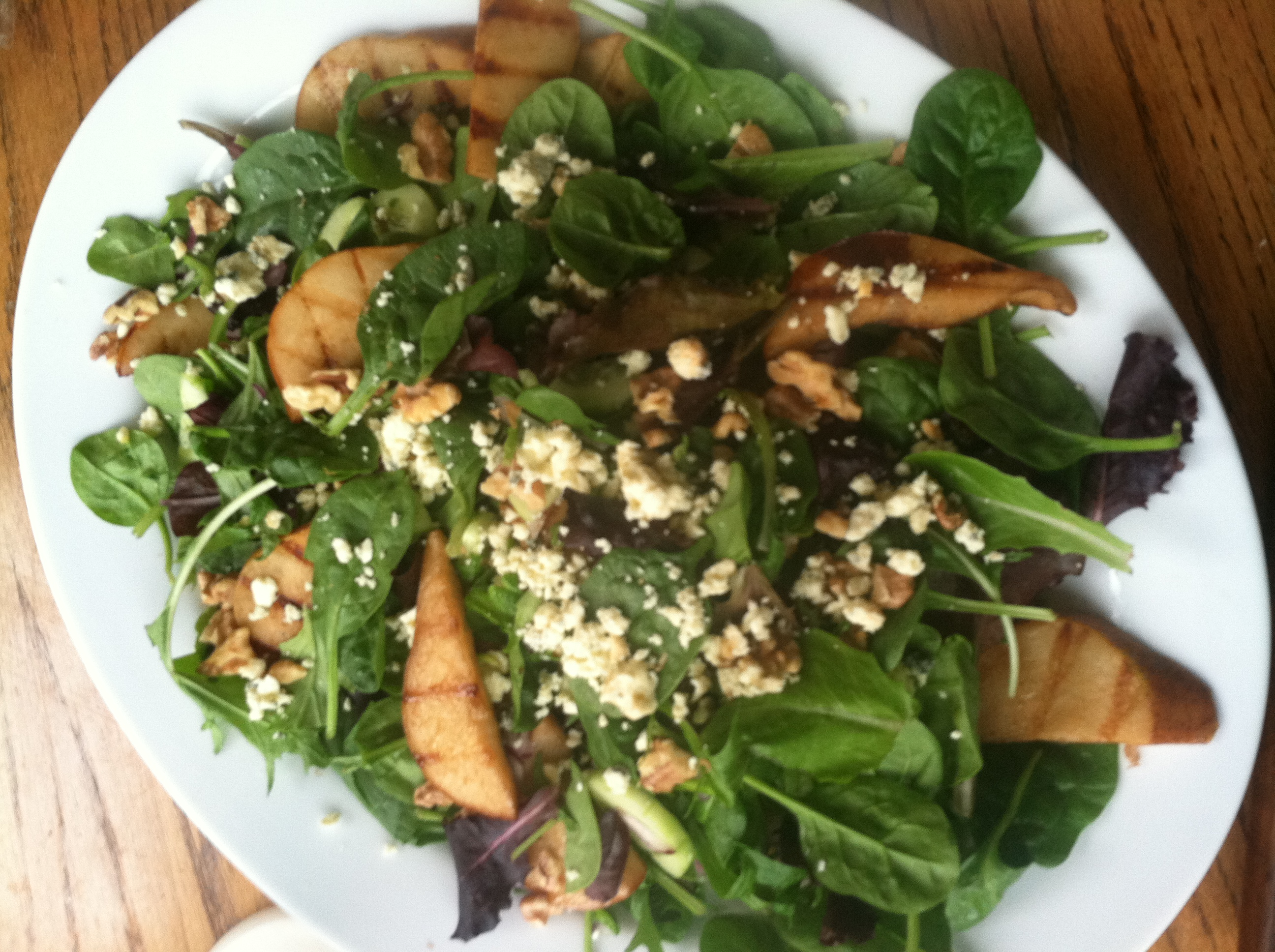 Baby Greens with Grilled Balsamic Pears