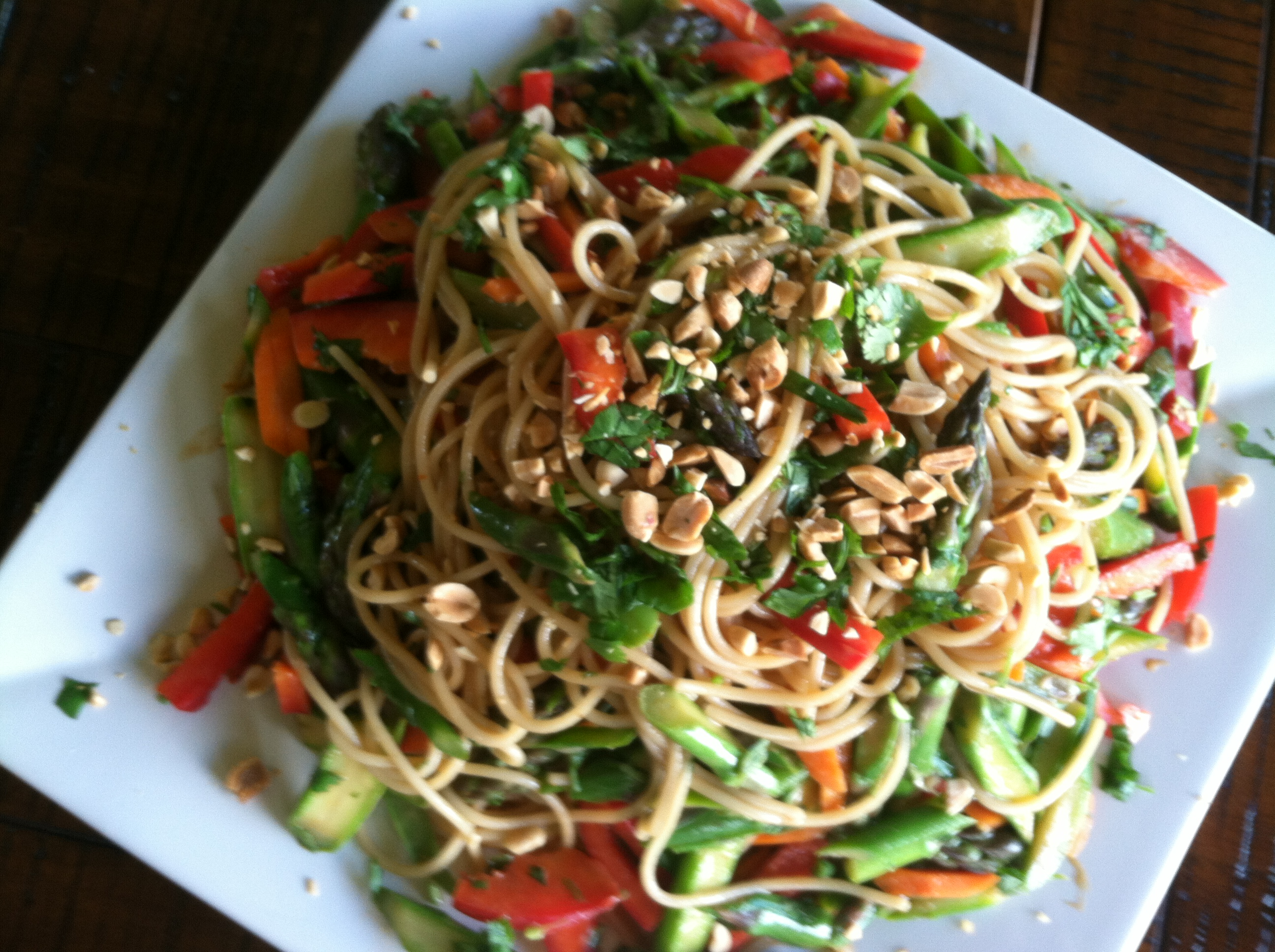 Peanut Noodle Vegetable Salad