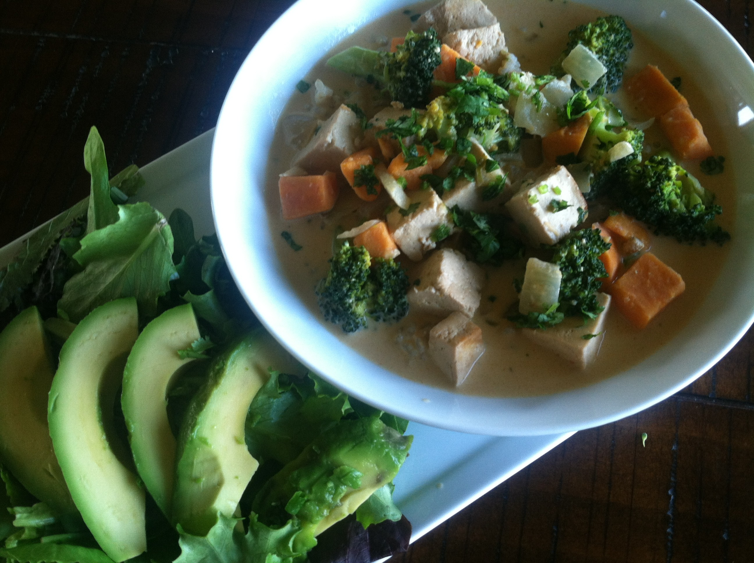 Tofu Red Curry Sauce with Vegetables