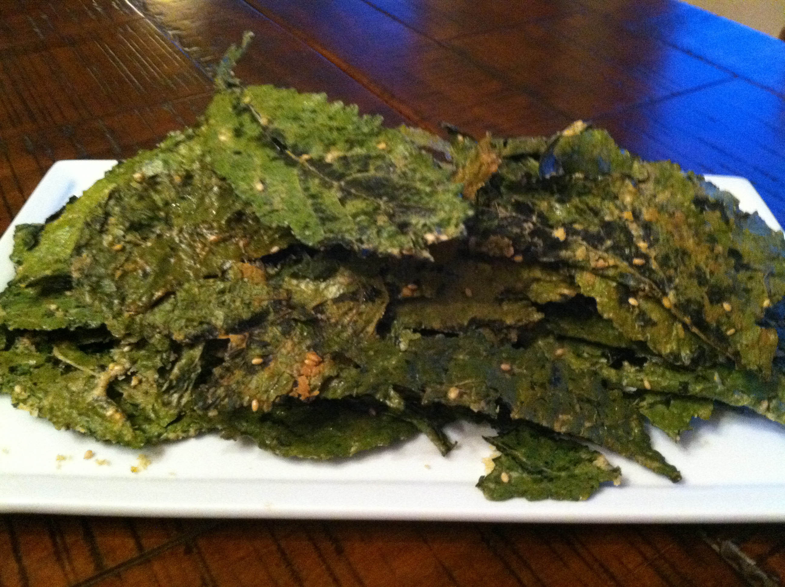 Crunchy Ginger Lime Kale Chips
