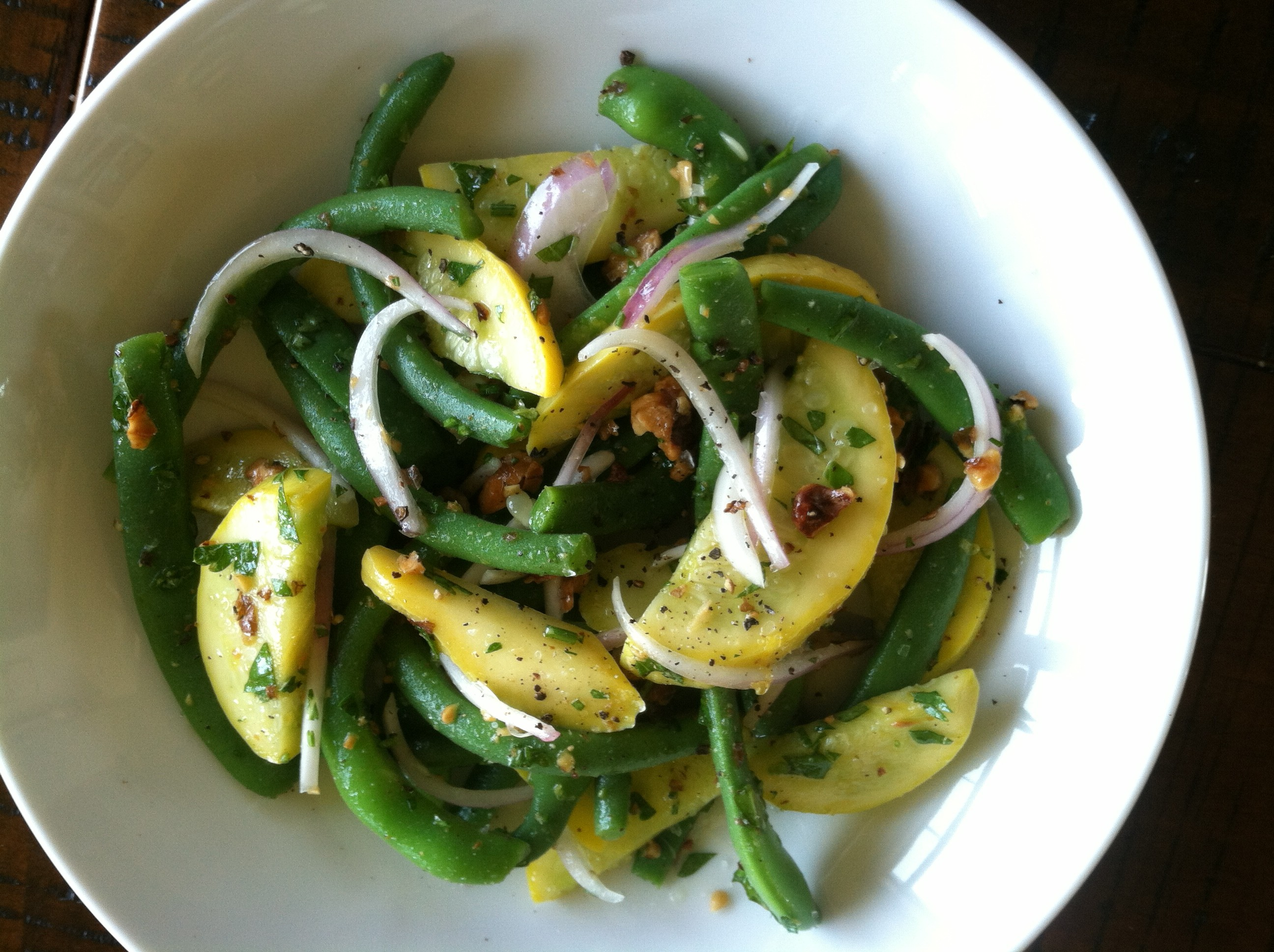 Herbed Green Bean & Summer Squash Salad