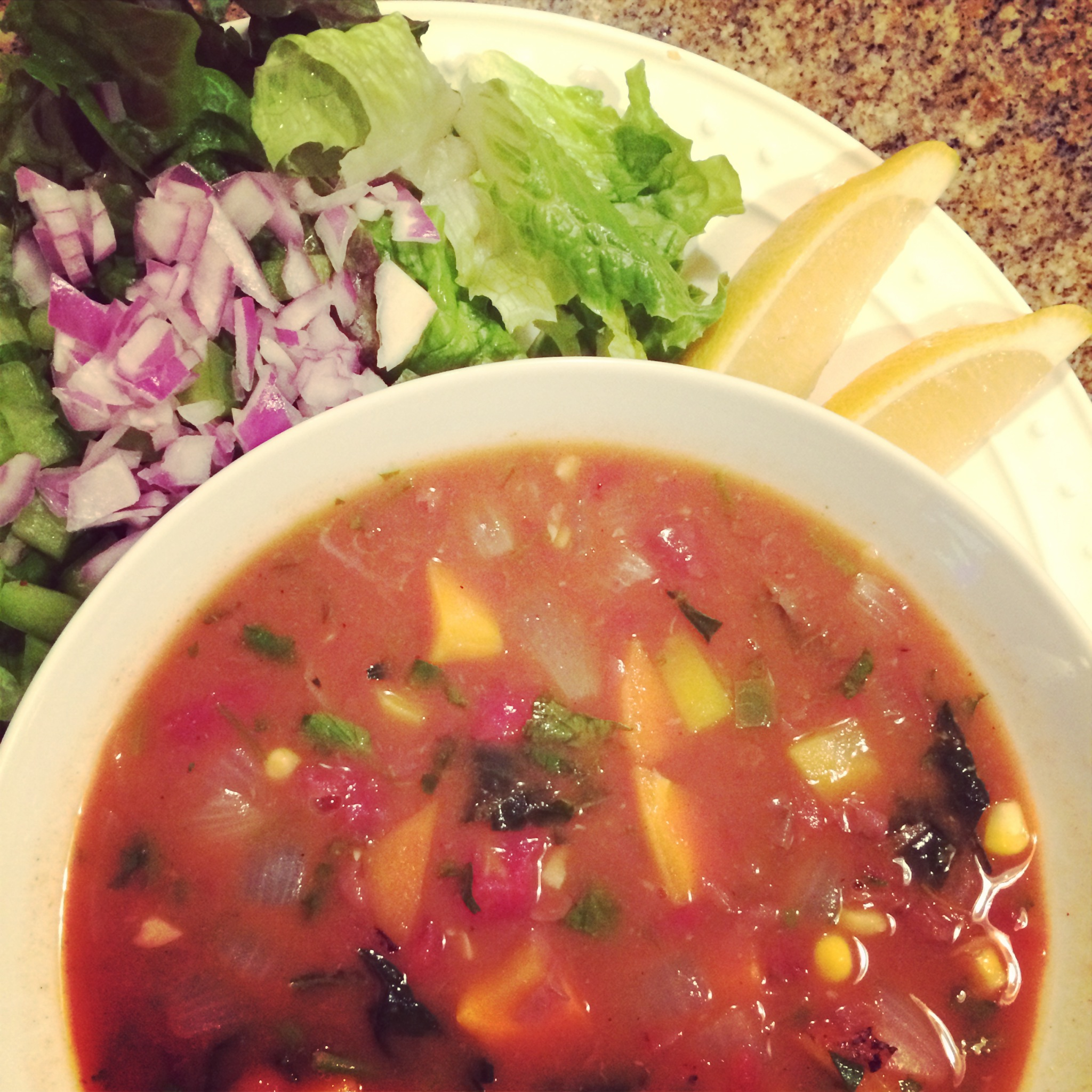 Hearty Fall Pinto Bean Soup with Yams and Kale