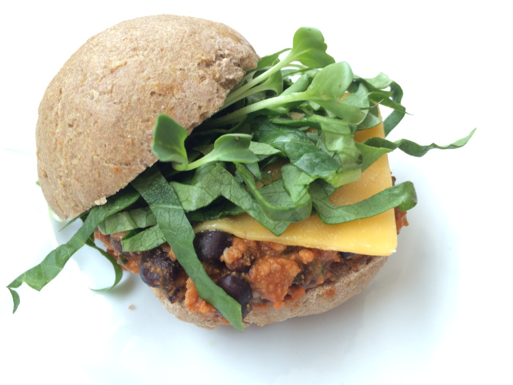 Black Bean and Turkey Sliders