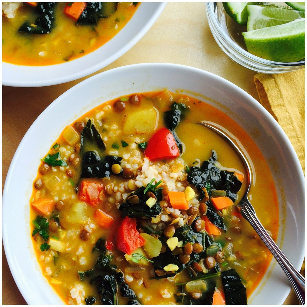 The finishing touches of fresh kale, cilantro and lime bring a ...