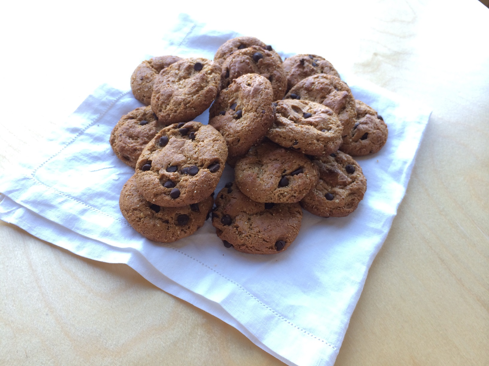 Chocoate Chip Almond Drop Cookies