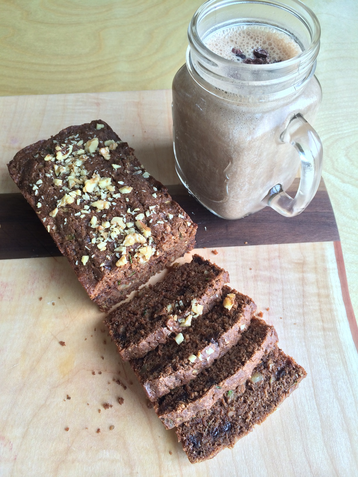 Chocolate Walnut Zucchini Bread