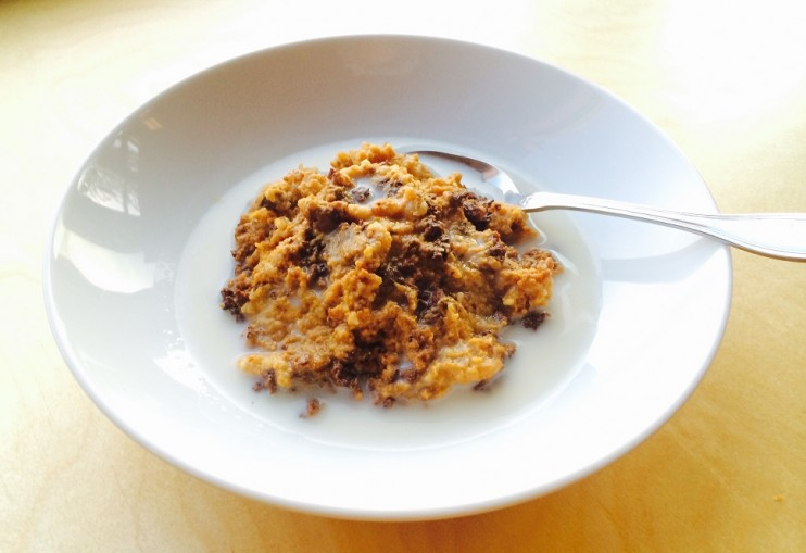 Make Ahead Pumpkin Pie Crock Pot Oatmeal