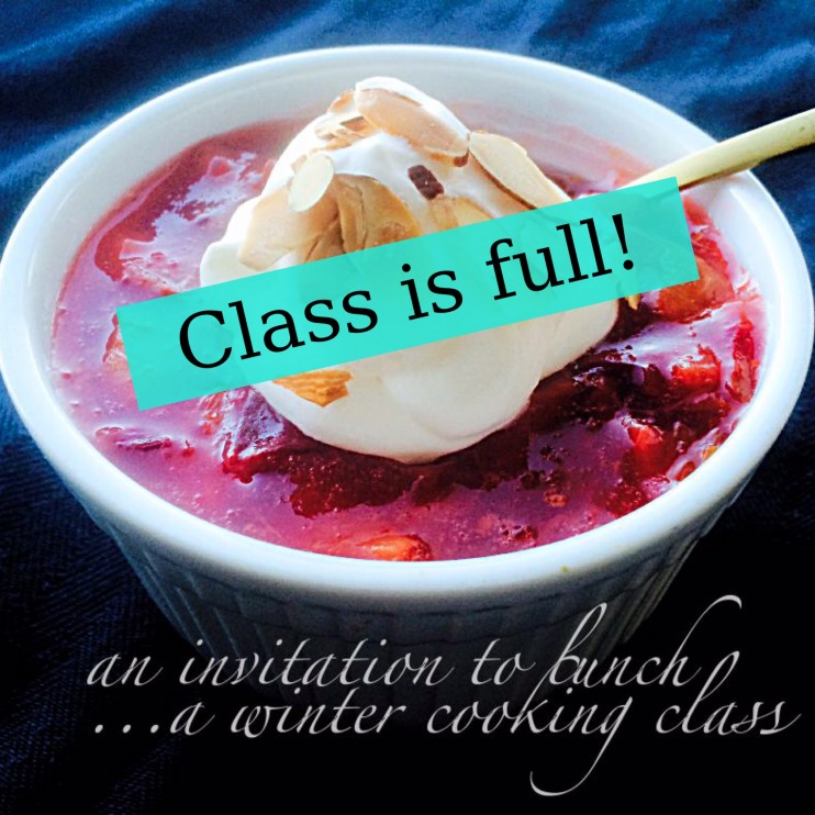 an invitation to lunch...a winter cooking class