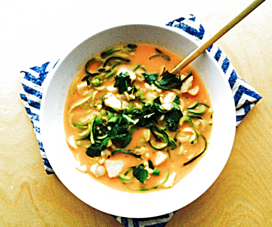 Zoodles Red Curry Bowl with Cod