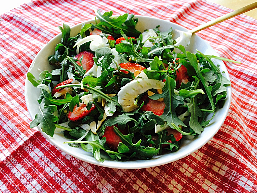 Strawberry, Fennel, and Arugula Salad
