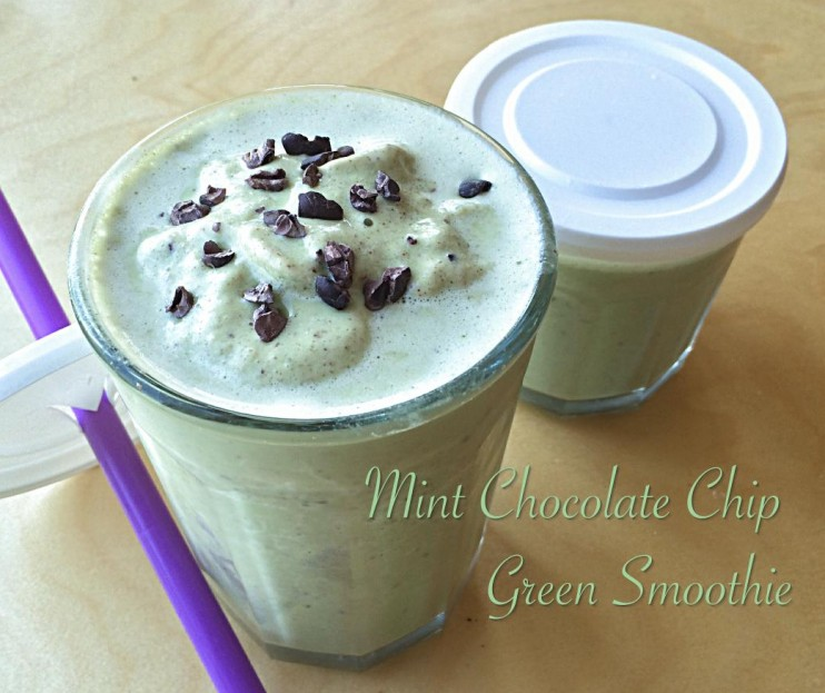 Mint Chocolate Chip Green Smoothie