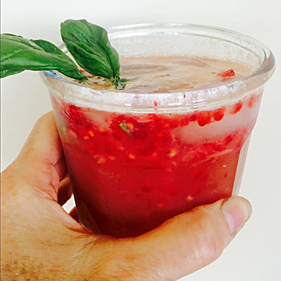 Raspberry Basil Cooler