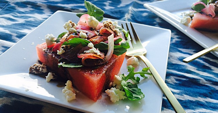 Watermelon + Arugula Salad