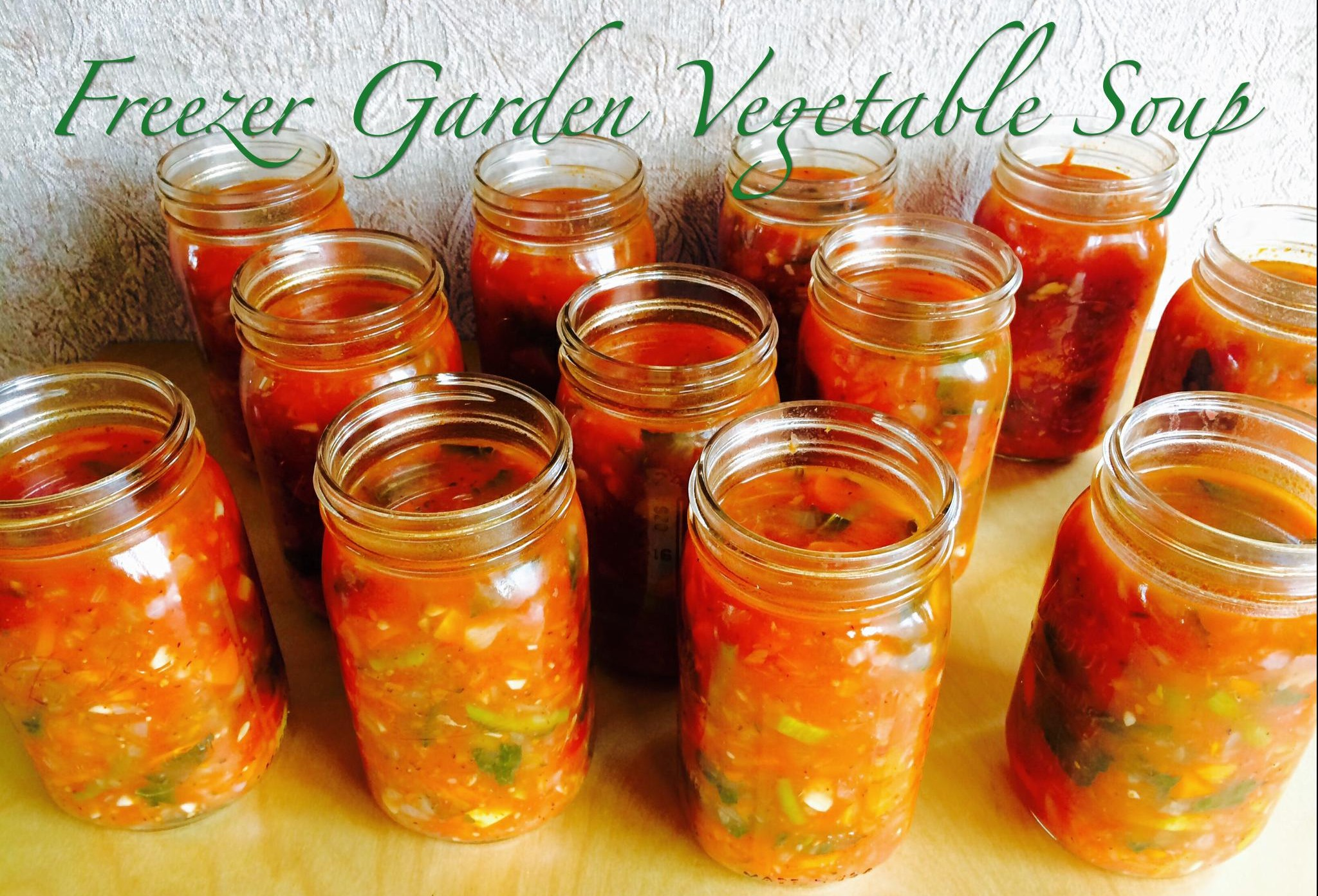 Freezer Garden Vegetable Soup