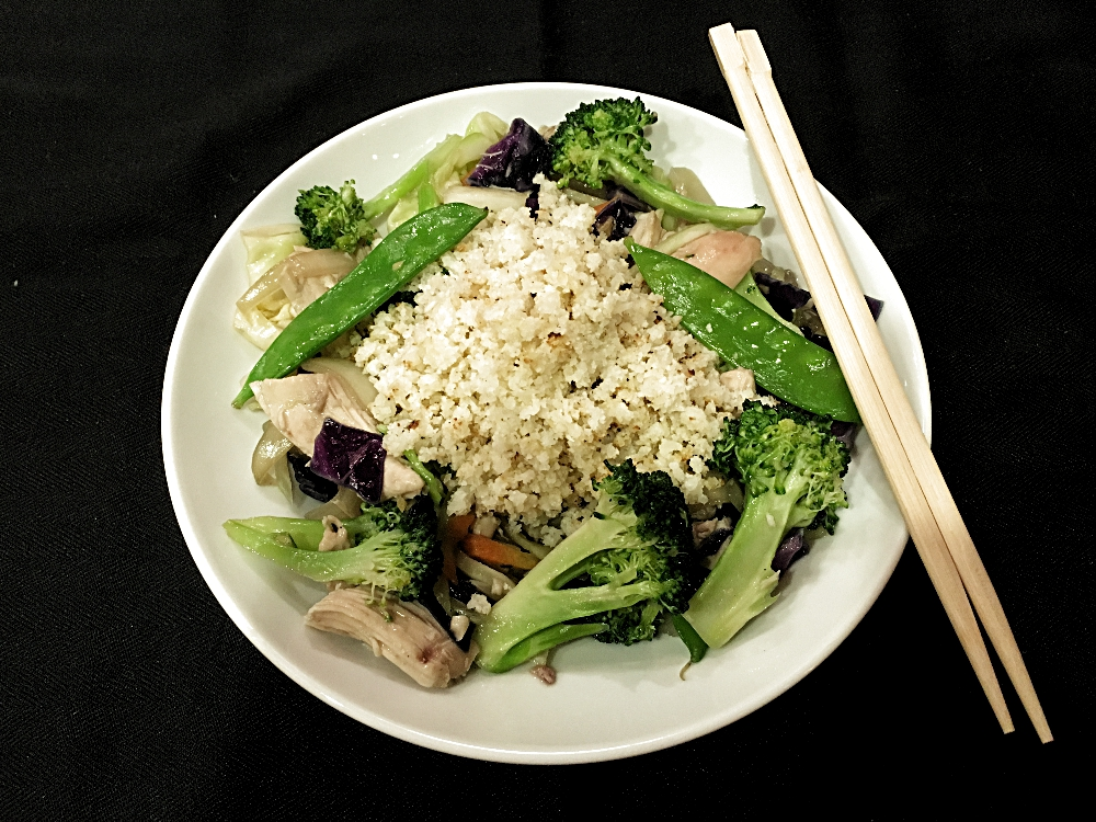 Cauliflower Rice Asian Bowl