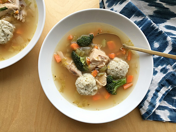 Chicken Vegetable Soup and Dumplings