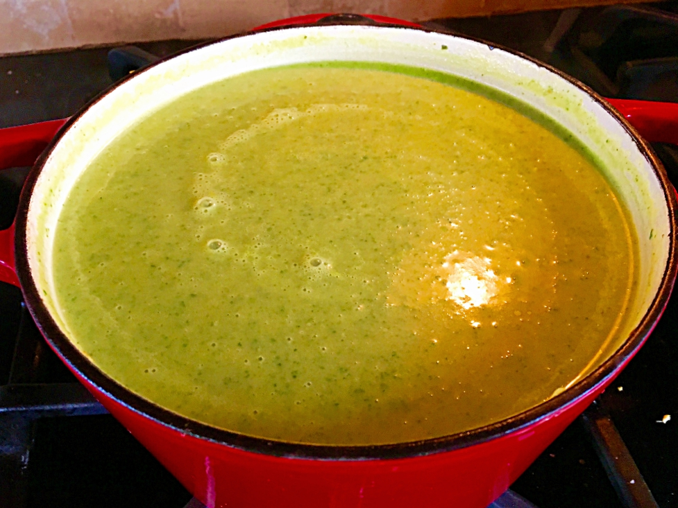 Creamy Spring Greens Soup