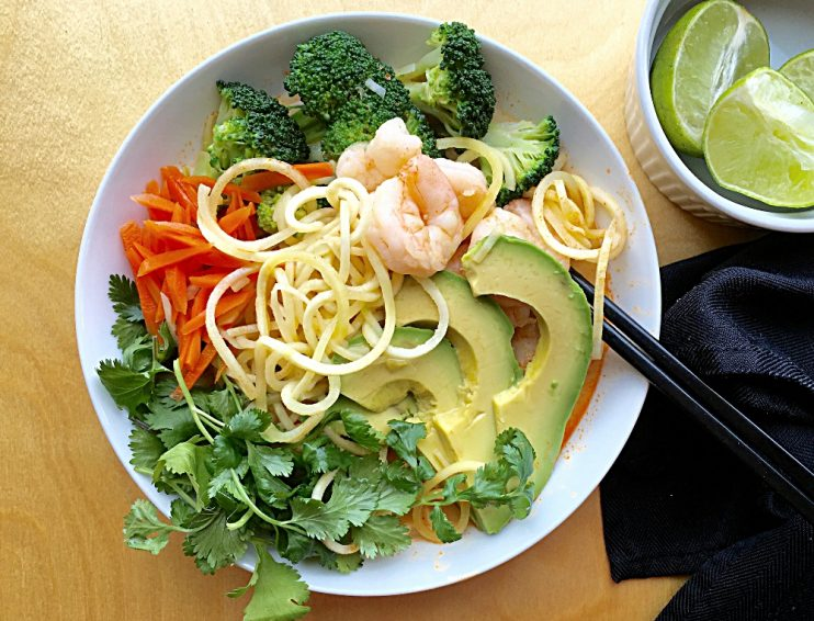 Spring Shrimp Noodle Bowl
