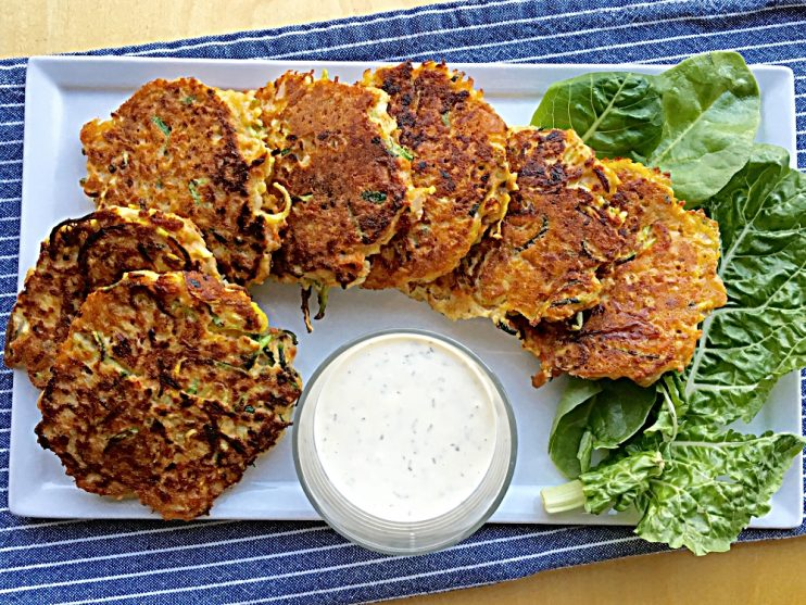 Pan Seared Zucchini Salmon Cakes