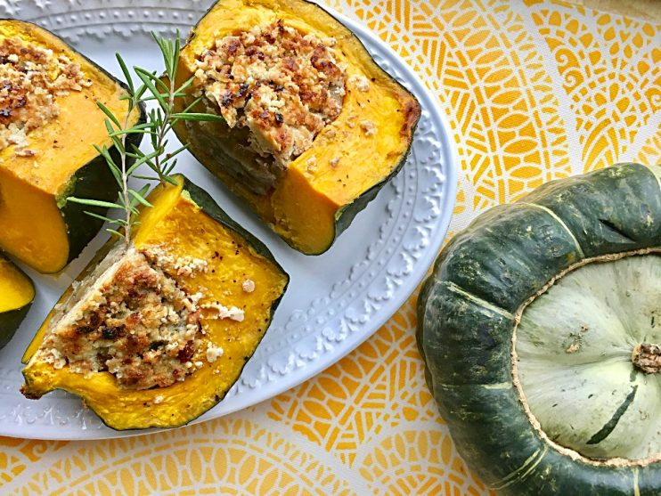 Savory Crusted Stuffed Buttercup Squash