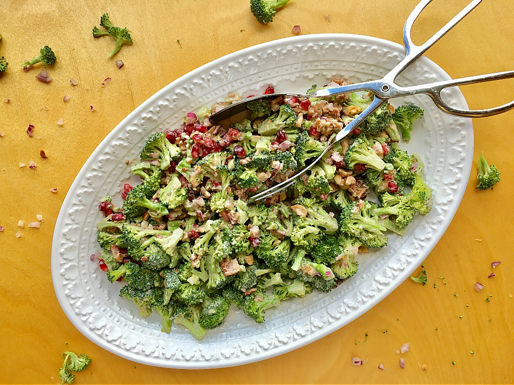 Broccoli Pomegranate Salad