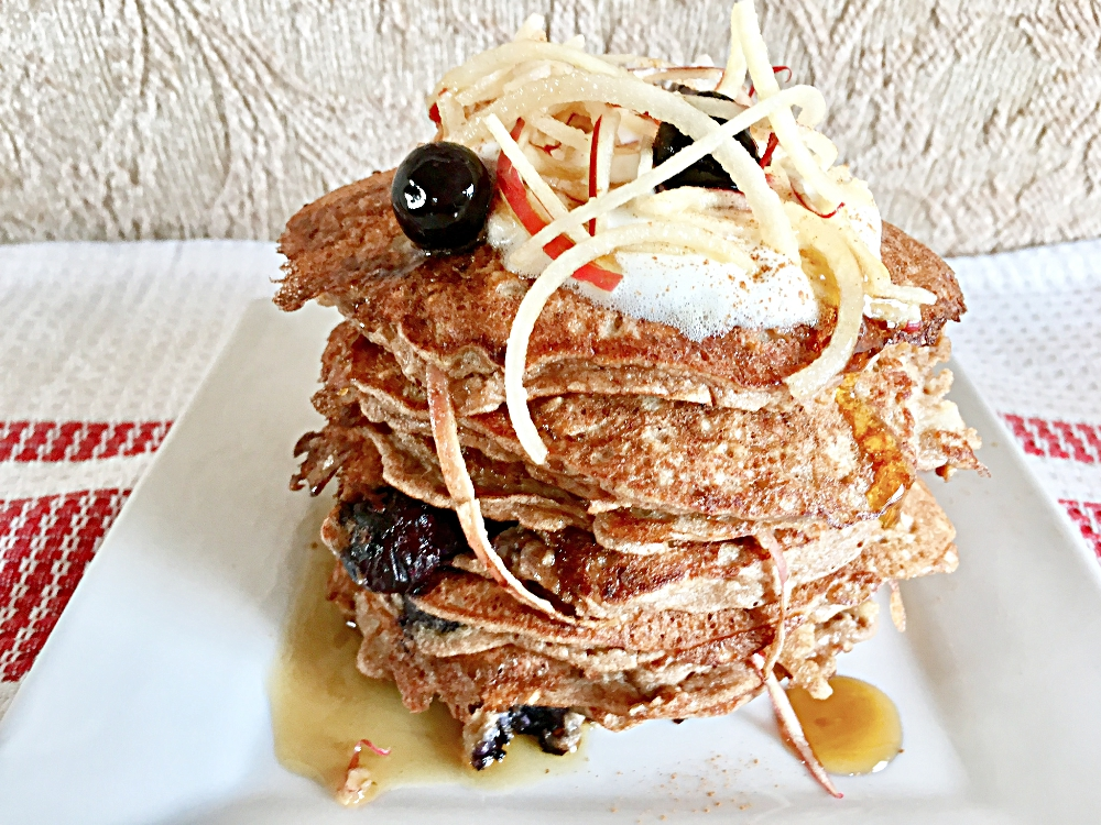 Apple Cinnamon Noodle Pancakes
