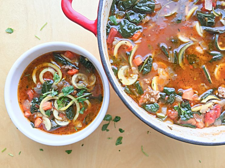 Italian Sausage Zoodle Soup