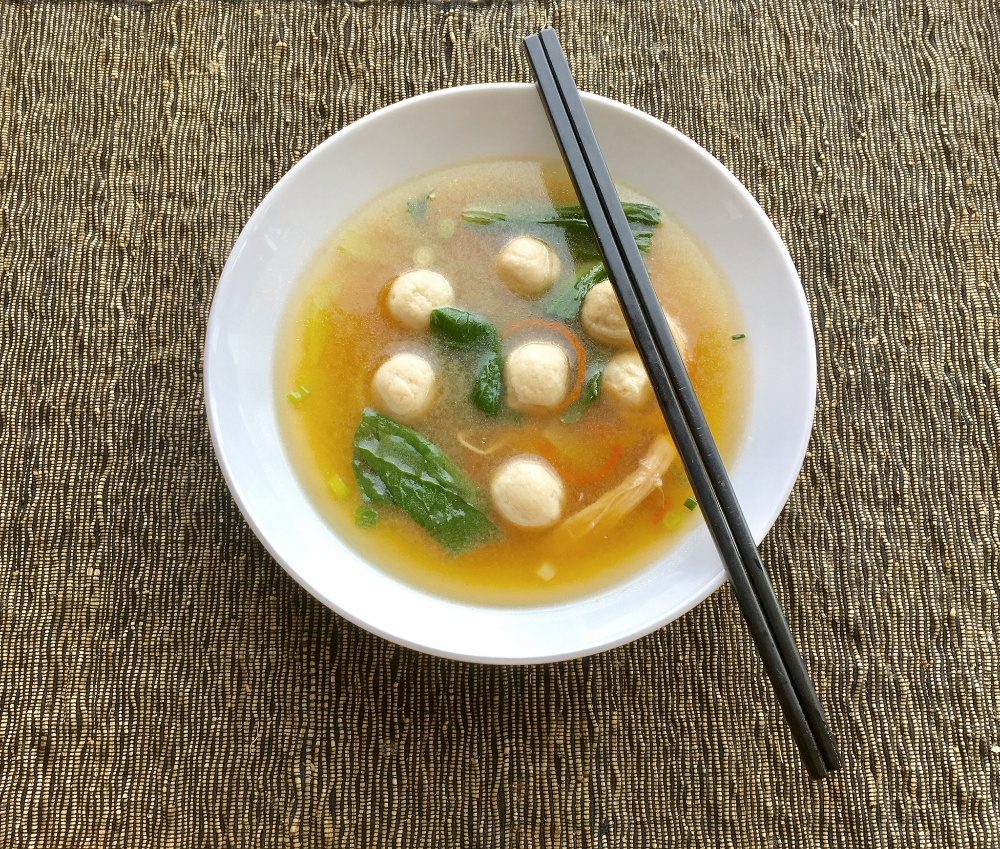 Bok Choy Chicken Dumpling Soup
