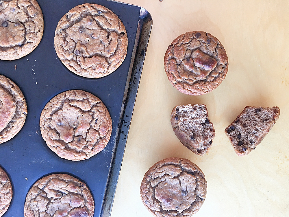 Grain Free Chocolate Chip Banana Muffins