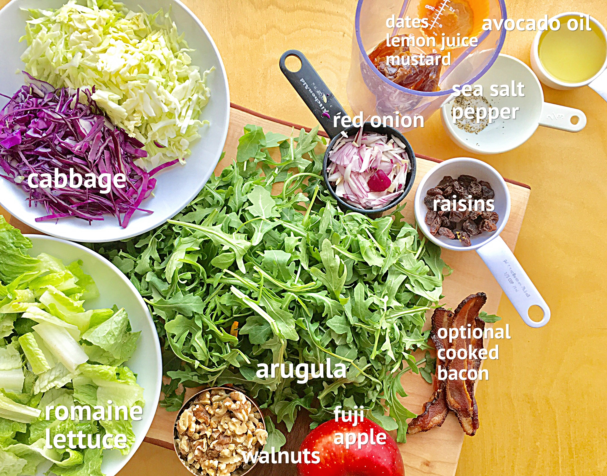 Cabbage Crunch Arugula Salad