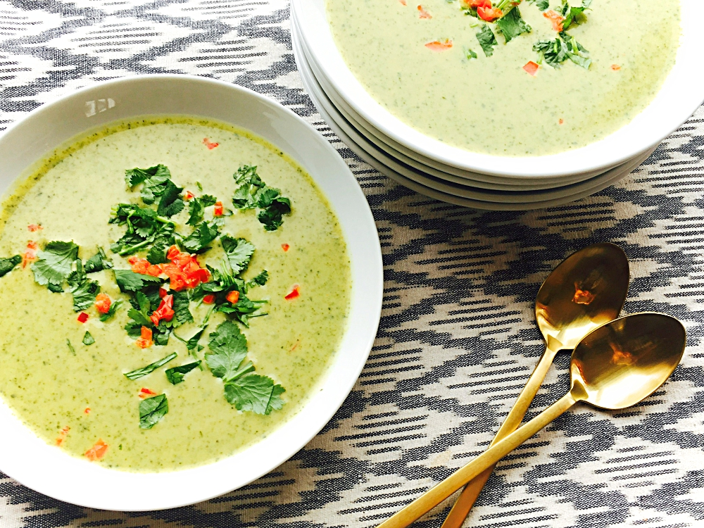 Curried Cream of Broccoli Soup - At My Kitchen Table