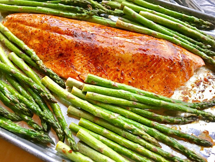 Tessemae's Salmon Asparagus Sheet Pan Dinner