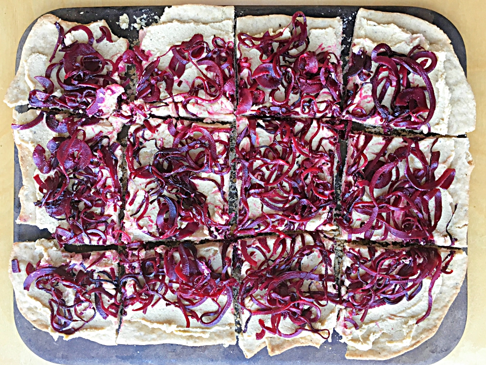 Beet and Arugula Pizza