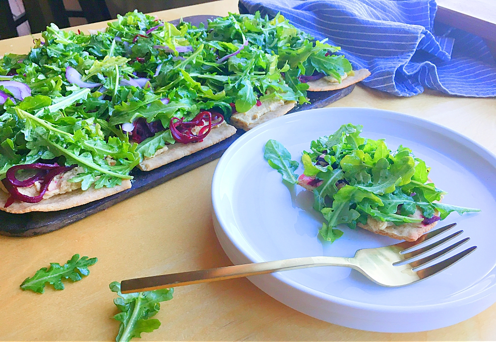 Roasted Balsamic Beet and Arugula Pizza