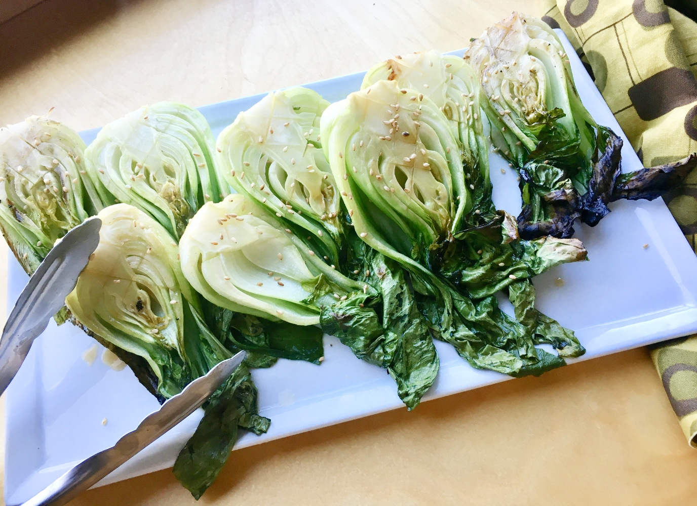 Grilled Sesame Baby Bok Choy