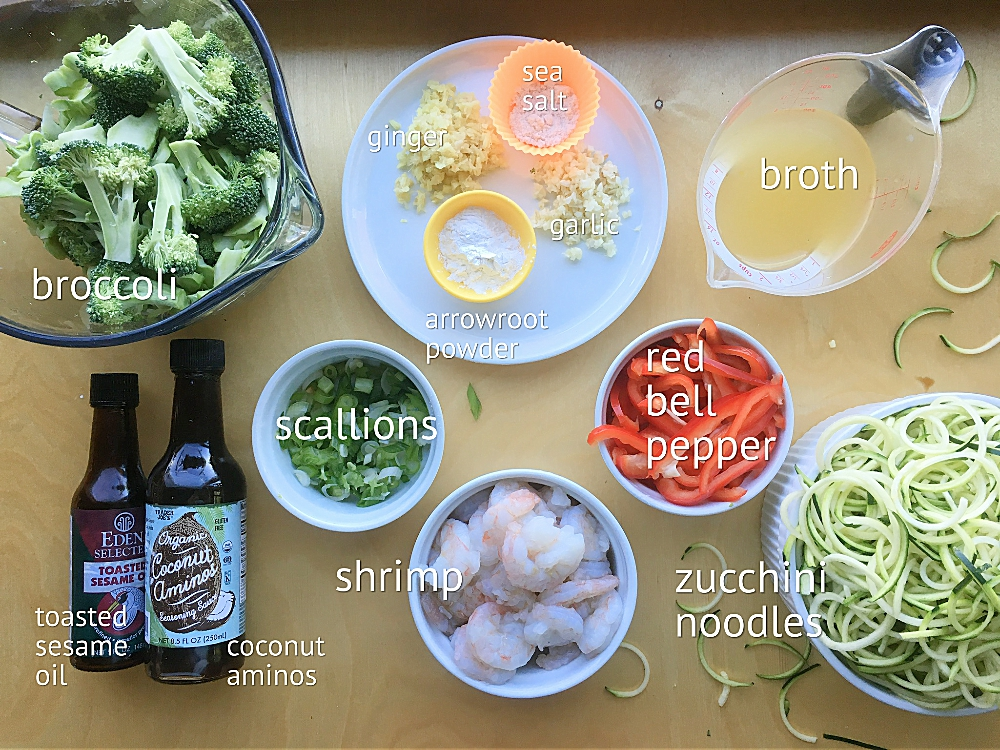 Skillet Shrimp Lo Mein with Zucchini Noodles
