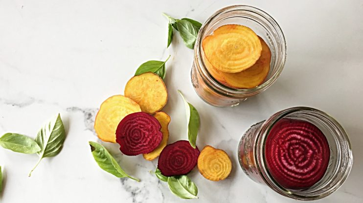 Pickling Naturally : Fermented Beets with Cumin and Basil